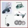 Estabilizadores, enganche, cabezales, ruedas, sujeciones